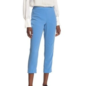 Theory Basic Crepe Light Lapis Crop Pants